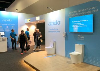 Expella's exhibit at the HIA Homeshow in 2018