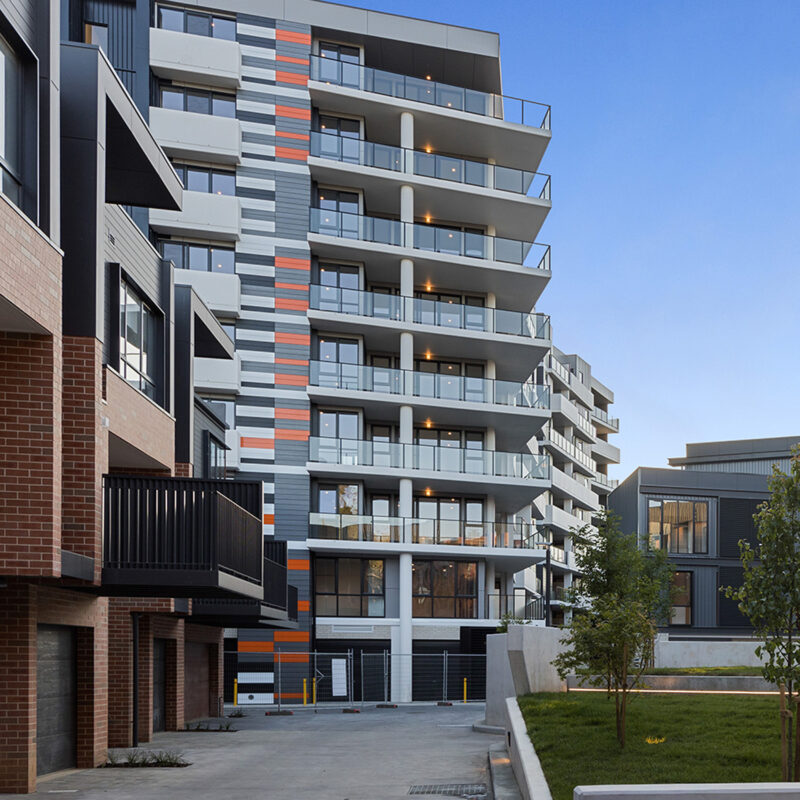 The Grounds Braddon, exterior view of the apartments